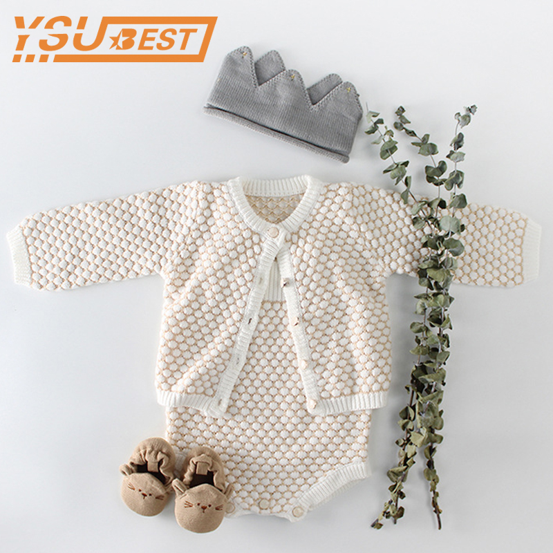 2018 Baby Knitted   Romper   Autumn Baby Girls Boys Clothes Cotton Baby Girl   Romper   Cardigan Newborn Baby Clothes For Girls Jumpsuit