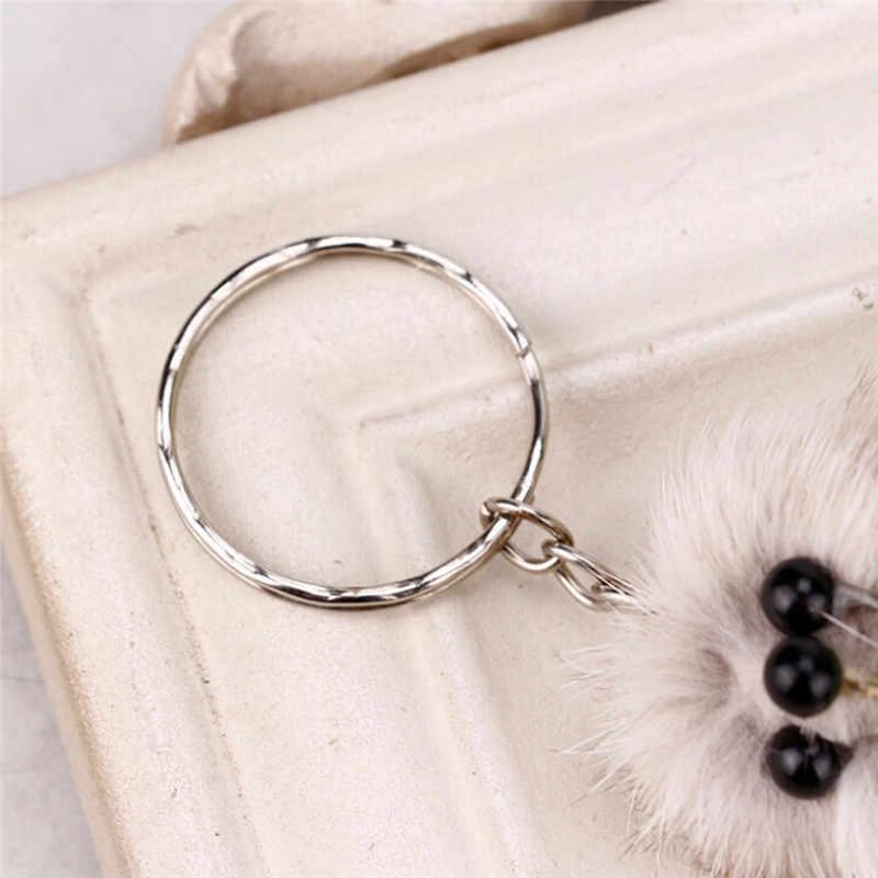 17 cm Mô Phỏng con cáo lông Súng Đại Bác Tự Động Vật Keychain Mouse Key Chain Xe Treo Mặt Dây Chuyền Bạc Mạ Bag Hanger