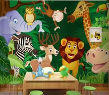 [Self-Adhesive] 3D Cute Cartoon Animals Forest 44  Wall Paper mural Print Decal Murals