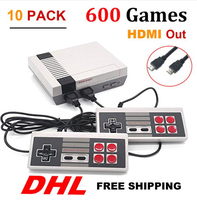 10PCS HDMI HD Out Mini TV Retro Classic handhel Game Console Video Game Console with 500 /600 Different Built in Games P / N