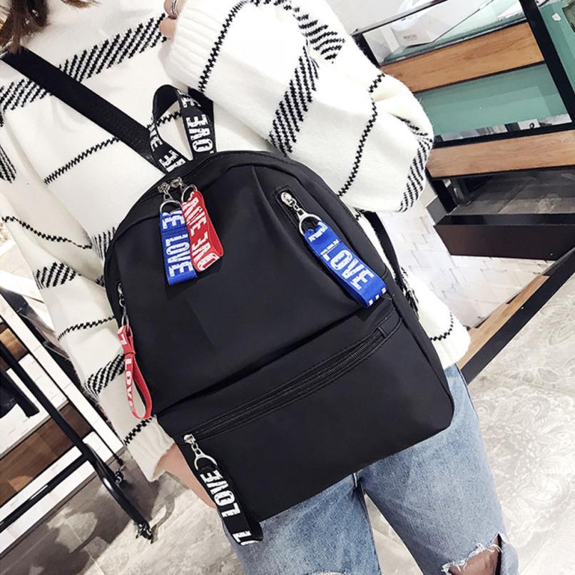 maison Backpacks new high quality Nylon Fashion Ribbon Decoration Zipper Shoulder Rucksack Travel backpack women 2018MA21
