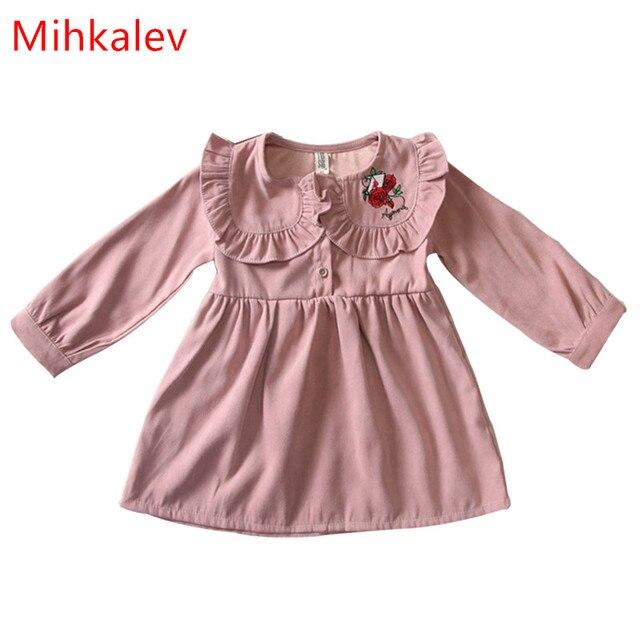 Mihkalev 2017 otoño de manga larga niños vestidos para niñas ...