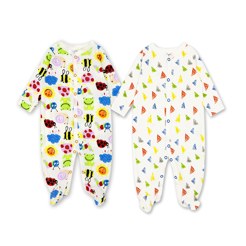 2 3 Pcs set Cotton baby rompers suit newborn baby girls boys clothes Long  Sleeve Jumpsuit Playsuit Outfits Tags  68e9579aee47
