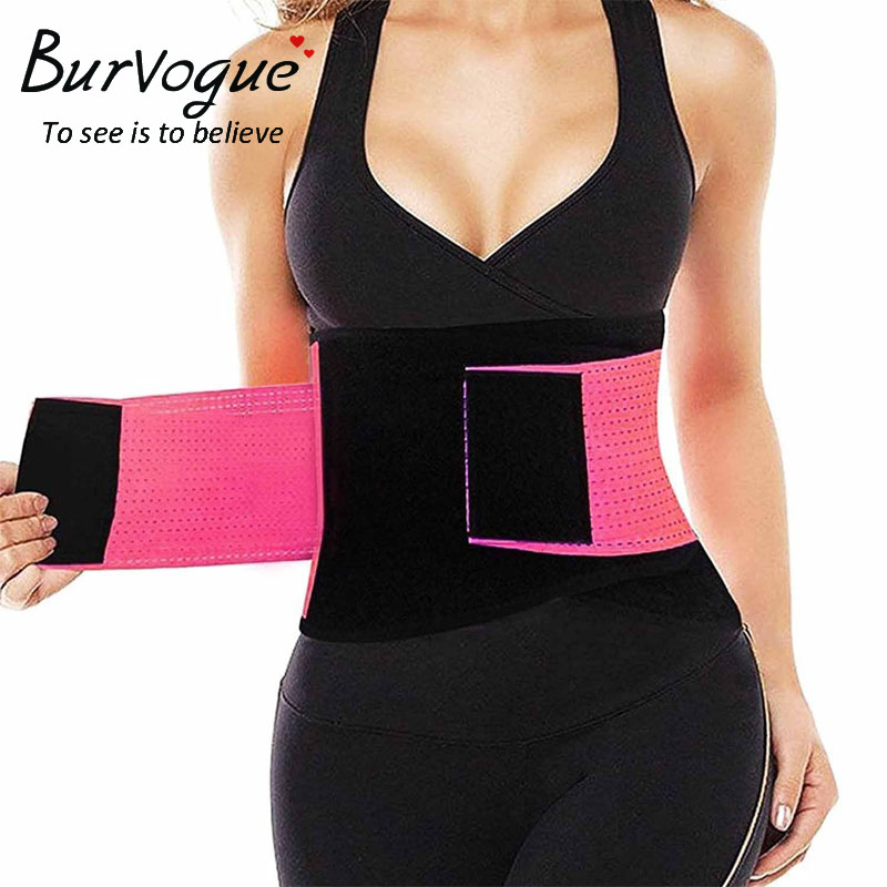 Burvogue Women Waist Trainer Belt Corset for Weight Loss Slimming Belt Body Shaper Electric Modeling Strap Slim Shapewear
