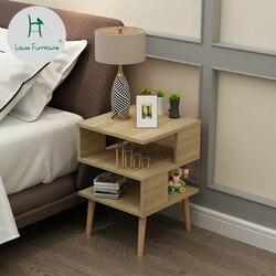Louis De Mode Chevet Nordique Mini Moderne Chambre Mini-Table De Chevet Simple Armoire De Chevet Table à Thé En Bois Massif Grand Pied