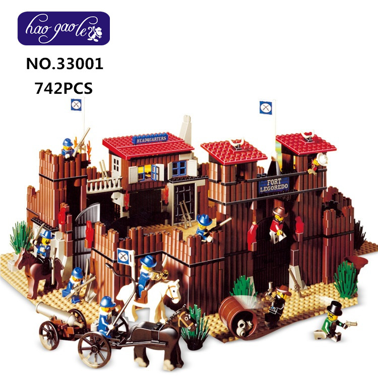 33001 742Pcs Genuine Building Series The Idian Cowboy`s Castle Set Educational Building Blocks Bricks Toys Model 6769 new diy 742pcs genuine building series the idian cowboy s castle set educational lepines building blocks bricks toys model gift
