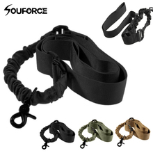 Tactical One Single Point Adjustable Bungee Rifle Gun Sling Strap System Tactical Gun Sling for Airsoft Hunting magorui heavy duty tactical one single point sling adjustable bungee rifle gun sling strap