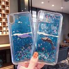 KISSCASE Glitter Liquid Quicksand Soft Case For Redmi Note 7 6 5 Pro Xiaomi Mi 9 SE 8 A2 Lite Pocophone F1 Whale Silicone Cover(China)