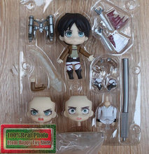 10 cm Attack on Titan Eren Jaeger Japonês Anime Bonito Nendoroid #375 PVC Action Figure Collectible Modelo Toy Boneca(China)