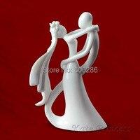 45 unids/lote La Mirada de Amor Novia y el Novio Pareja Estatuilla para divertido de la torta y la torta de boda suministros de la boda soporte