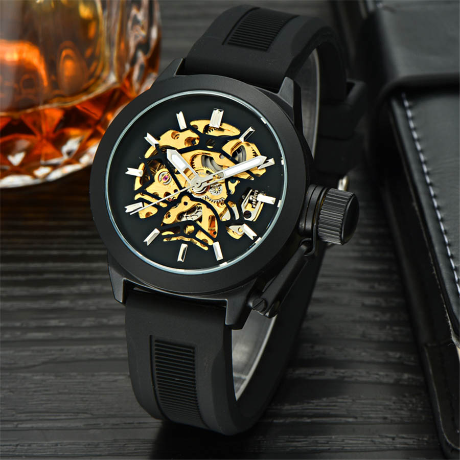 MCE 2017 Racing Design Black Stainless Steel Skeleton Mens Watches Top Brand Luxury Mechanical Automatic Watch Men Clock tevise men black stainless steel automatic mechanical watch luminous analog mens skeleton watches top brand luxury 9008g