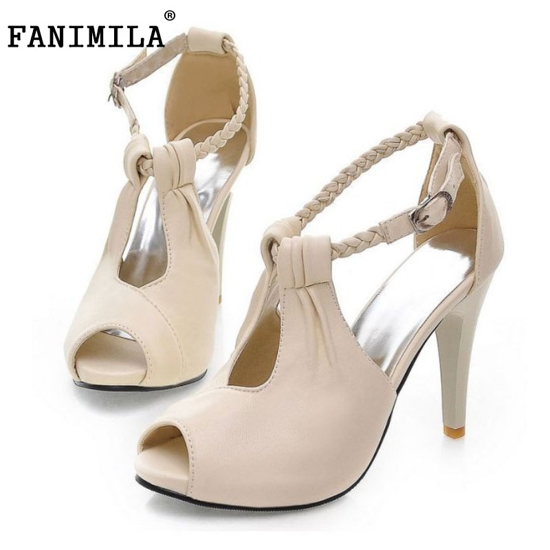 Plus Size 30-43 Woman Shoes Women Ankle Strap High Heel Sandals New Arrival Trend Fashion Casual Sexy Party Summer Women Shoes size 30 43 woman ankle strap high heel sandals new arrival hot sale fashion office summer women casual women shoes p19266