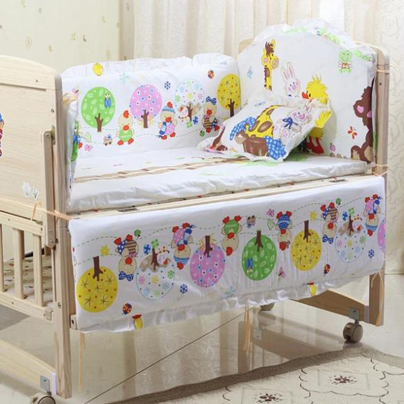 Honest Baby Bedding Set Bumper Cotton Carton Print Soft Mother & Kids