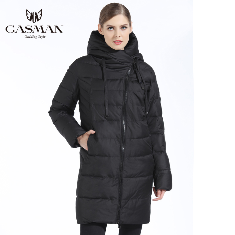 GASMAN 2019 Neue Frauen Winter Jacke Mantel Casual Winter Stepp Mantel Lange Stil Kapuze Schlank Parkas Verdicken Oberbekleidung Mantel Plus größe - 5