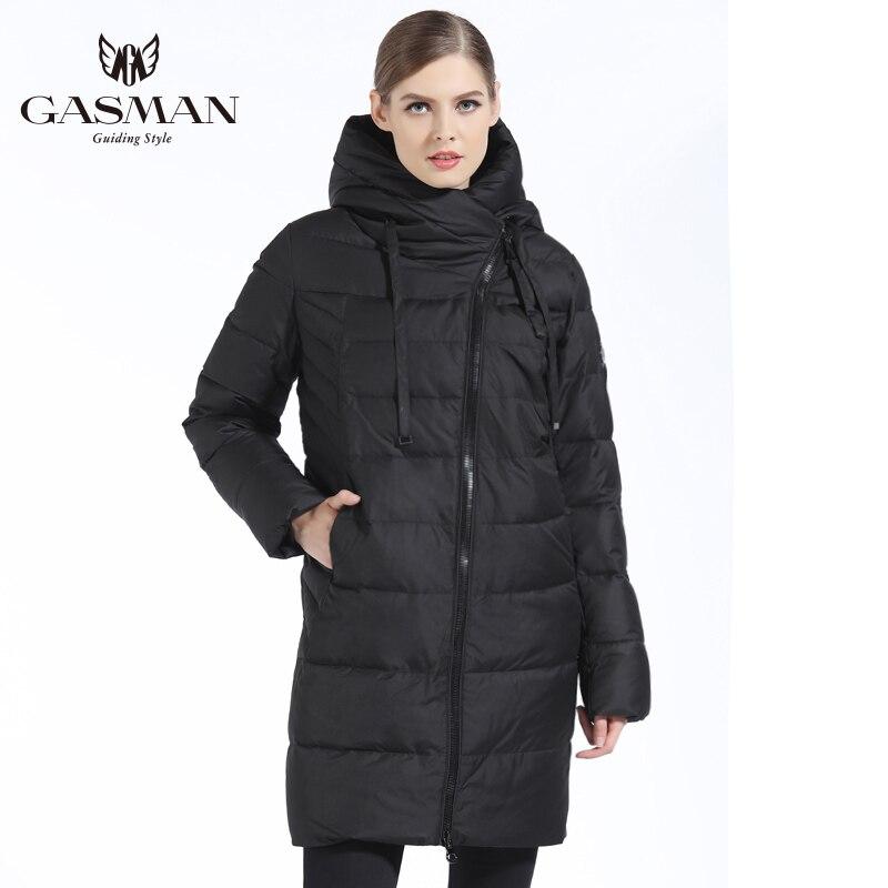 GASMAN 2019 nueva chaqueta de invierno para mujer abrigo Casual acolchado de invierno abrigo largo estilo Parkas delgadas espesar prendas de vestir exteriores abrigo de talla grande - 5
