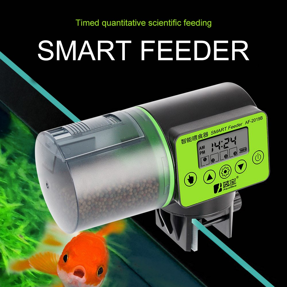 2 in 1 Manual and Smart Automatic Fish Feeder Aquarium Timer Feeder Digital Fish Tank Electrical Food Feeding Fish Feeder Tool image