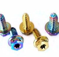 Tapping Screw for Motorcycle M5 M6 x17 mm Ti Bolt Flange Torx Head Titanium Bolts Multicolor Titanium Screw Ti Fastener