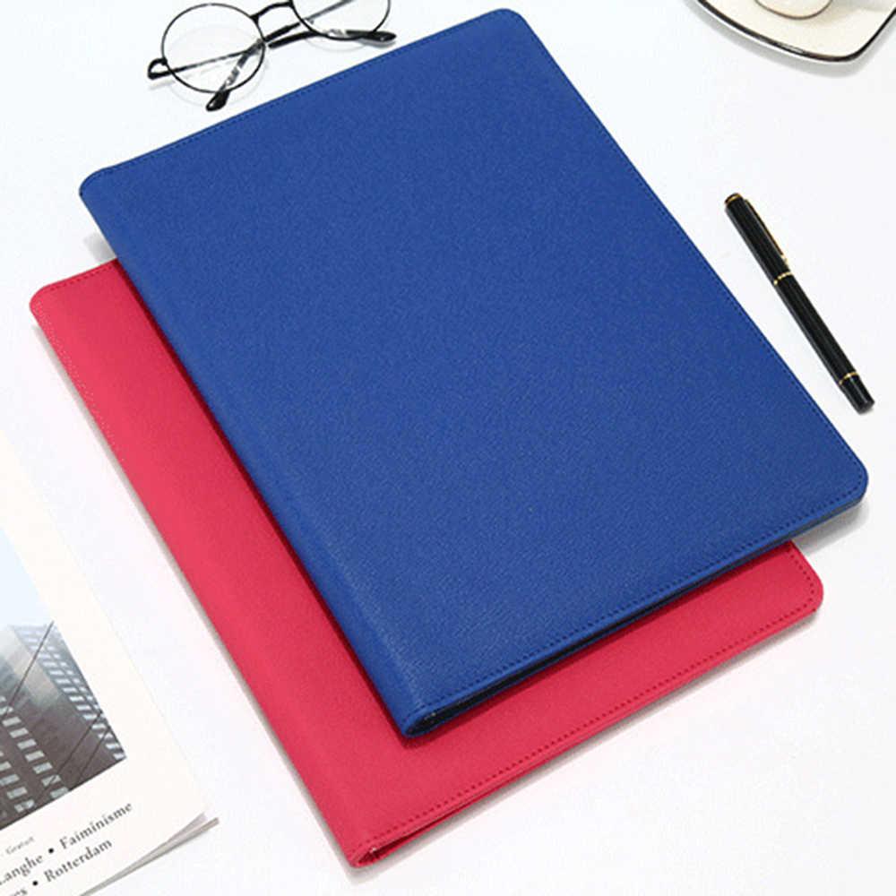 Pro A4 искусственная кожа папка с калькулятором Чехол Органайзер для офисных принадлежностей менеджер документы колодки портфель Padfolio сумки