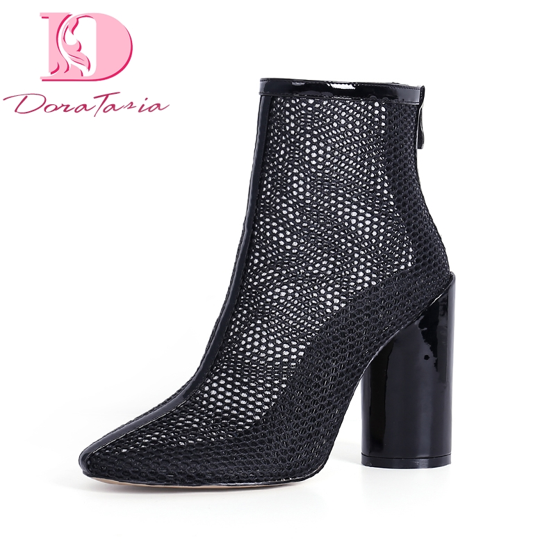 DoraTasia 2018 Best Quality Air Mesh Women Shoes Sexy High Heels Party Brand Design Woman Summer Boots Shoes