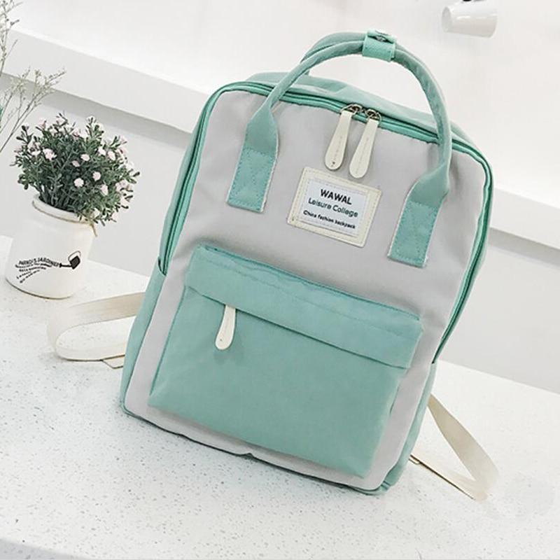Yogodlns Campus Women Backpack School Bag for Teenagers College Canvas Female Bagpack 15inch Laptop Back Packs Bolsas Mochila
