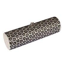 L7774LS Crystal Leopard panther Lady fashion TUBE Bridal Barrel Night Metal Evening purse clutch bag handbag