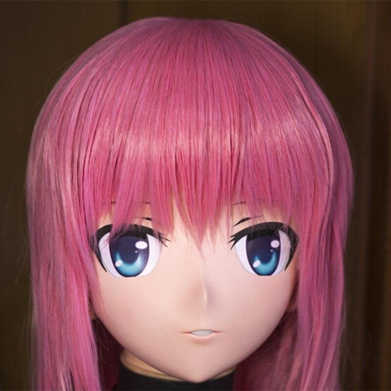 high quality handmade female letax full face Kigurumi anime mask cosplay kigurumi crossdresser fetish role can be customize