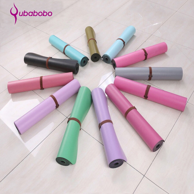 5MM Thick Non-slip Natural Rubber Yoga Mats For Fitness PU Pilates Gymnastics Mats 12 Colors Yoga Exercise Pads ( 180*66*0.5cm )