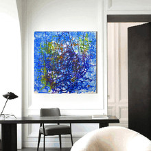 HDARTISAN Modern Blue Abstract Canvas Art Wall Pictures For Living Room The Birds Home Decor Printings Painting Frameless(China)