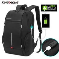 KONGSLONG New Anti Theft Backpack Water Resistant Travel Backpack USB Charging Port For Smartphone Backpack Black KLB1339 5
