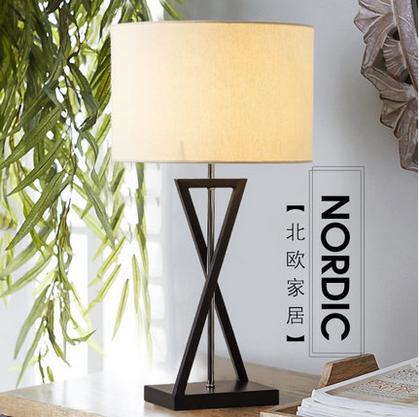 norte de europa clsico tela lmparas de escritorio americano warm cozy hierro luces para saln y