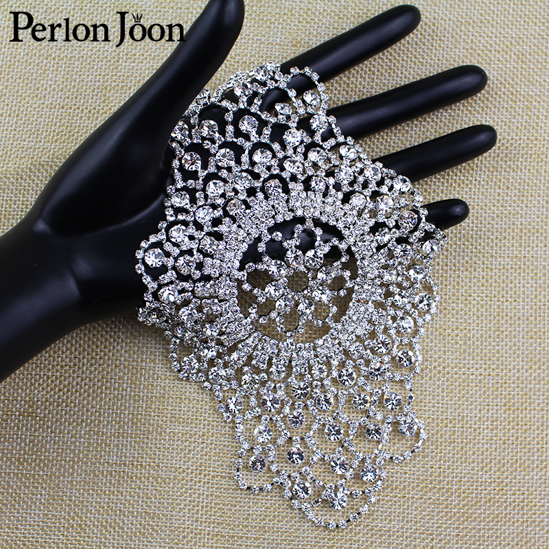 Diy Sew on the Clothes Arm sleeves Multi color Rhinestone Patches Crystal decorate applique for Women Wedding shoes bag YHZ031