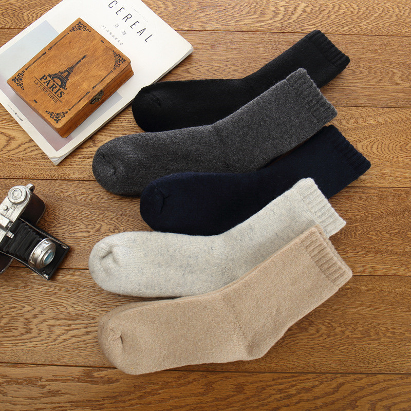 5ea10c3447bd3 Men's Winter Socks Terry Sock Canada 30 Degrees Below Zero Resist Cold Wool  Socks For Men Thicken Pile Socks 4 pairs/lot FT360-in Men's Socks from  Underwear ...