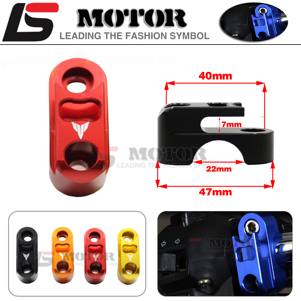 For YAMAHA FZ6 FZ1 FZ8 XJ6 XJR1300 Motorcycle CNC Aluminum Brake Master Cylinder Clamp Handlebar Clamp Cover Red useful bicycle stem cnc aluminum bike headset cover cap 1 1 8 red