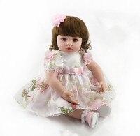 55 см Kawaii силикона Reborn Baby Doll Игрушечные лошадки реалистичные высокого класса Обувь для девочек Brinquedos подарок на день Рождения Моделирование