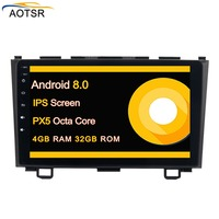 2 din Android 8.0 Car multimedia player Radio head unit For Honda CRV 2007 2011 gps navigation Stereo no dvd octa core 4+32G