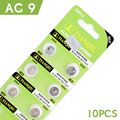 Best Price 10 Pieces 1.55V AG9 LR936 394 SR936SW 194 V394 Button Coin Cell Alkaline Battery Free Shipping