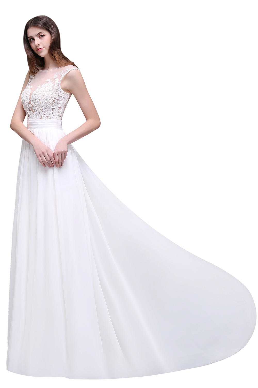 Robe de Mariage Sexy Sheer Spitze Brautkleider 2017 billig Boho ...