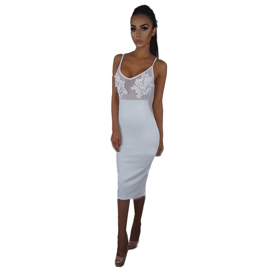 2018 Modern Atrractive Cool Womens Night Out Lace Bodycon Dress Ladies Transparent Woman ...