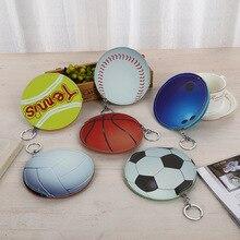 20pcs/lot Creative Cute Coin Purse Pouch sports ball Soccer Modeling PU Purse Headphone Bag Card Pack Key Ornaments