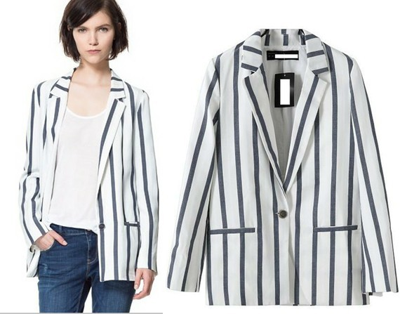 Aliexpress.com : Buy Plus Size Black and White Vertical Striped ...