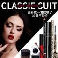Makeup Set:Eyebrow Enhancer Pencil+Mascara+eye liner gel+Eyeliner Pencil+Leopard Print Eyeliner+Liquid Lipgloss Cosmetics Kits