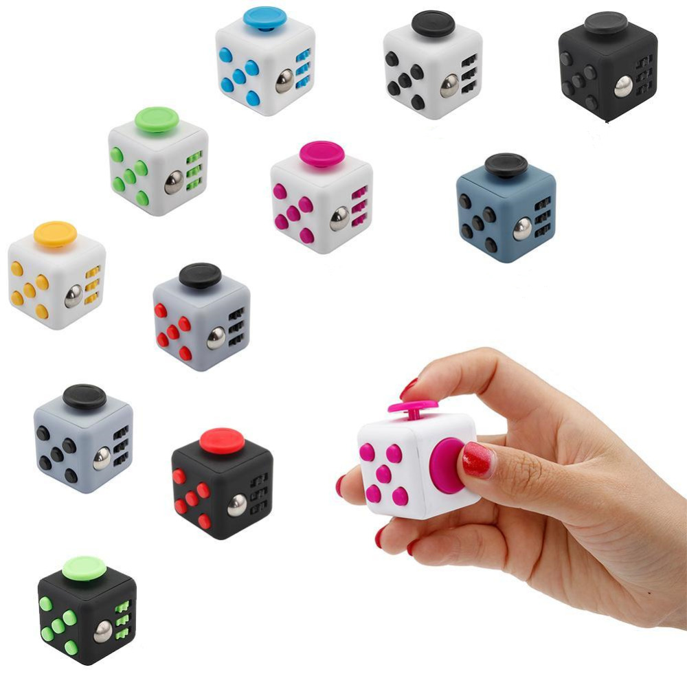 11 Styles Spinner Fidget Cube Squeeze Toy Finger Cube Toys Puzzles & Magic Cubes Toys Anti-Stress Funny Relax For Kids Gifts