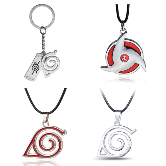 Naruto symbol necklace with rope