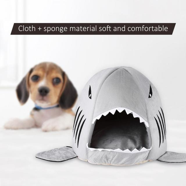 TOPINCN Shark Shape Pet Dog Bed Soft Warm Dog House Tent For Large Dogs Cute Puppy & TOPINCN Shark Shape Pet Dog Bed Soft Warm Dog House Tent For Large ...