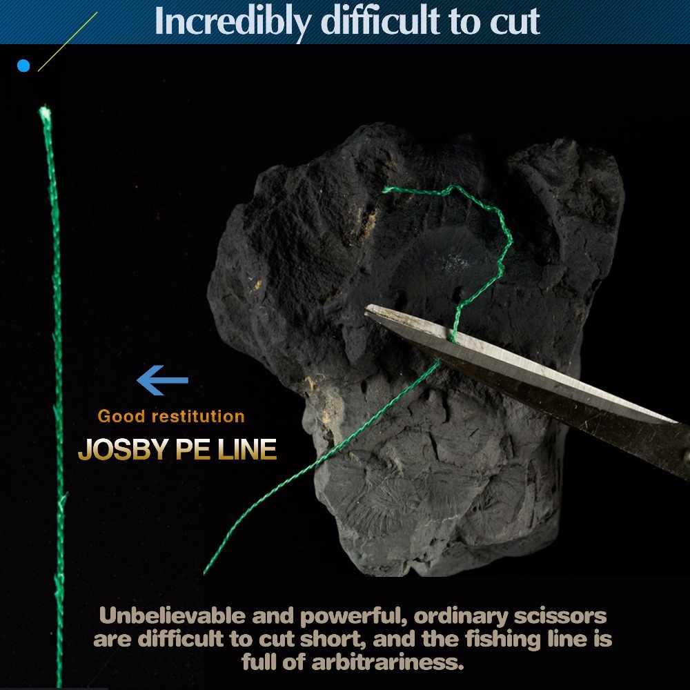 JOSBY 300M 500M 1000M 4 brins 8 brins multicolore PE tressé fil Multifilament Super forte ligne de pêche 2018 nouveau