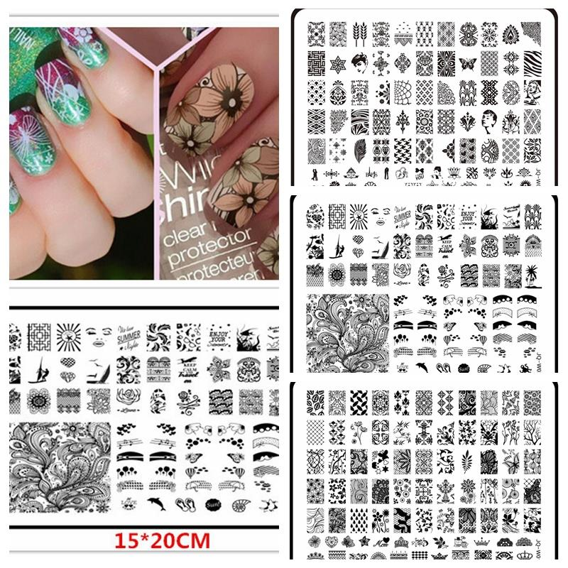1 Pcs 1520cm Large Size Konad Nail Art Stamping Stamper Used With