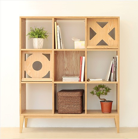 Beau Nordic / IKEA Small Farmers Off The Living Room Bookshelf Cabinet Design  Studio Original Old Pine