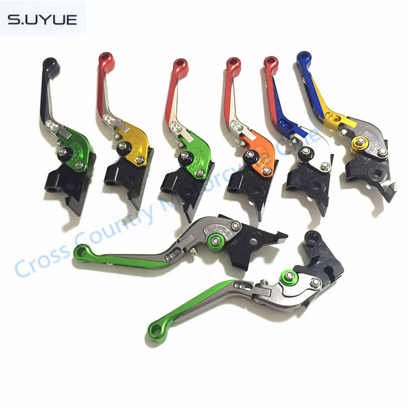 ФОТО S.UYUE New Motorcycle Adjustable CNC Aluminum Brakes Clutch Levers Set Motorbike brake For 690 SMC/SMC-R/Duke/Duke R 2012 2013