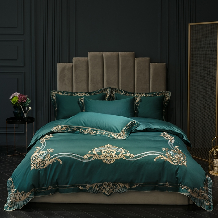 Luxury embroidery Bedding Set Soft egyptian cotton bedclothes Queen King size 4Pcs Duvet cover Bed sheet set PillowcaseLuxury embroidery Bedding Set Soft egyptian cotton bedclothes Queen King size 4Pcs Duvet cover Bed sheet set Pillowcase