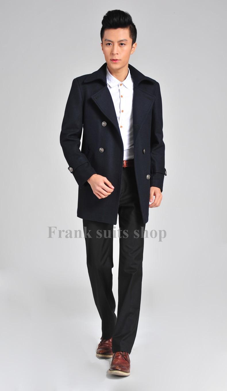 De 2017men's Beige Custom Made noir Laine Décontractée D'affaires D'hiver Vêtements Manteau Mâle Épaississement 6qY5qw